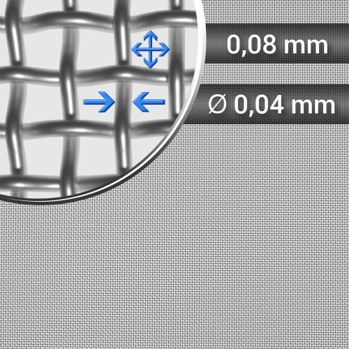 Siatka tkana ze stali nierdzewnej sito 210 oczko 0,08mm