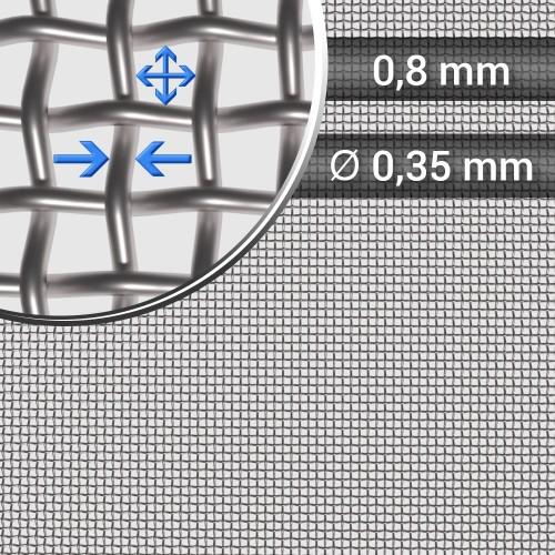Siatka tkana ze stali nierdzewnej sito 22 oczko 0,8mm