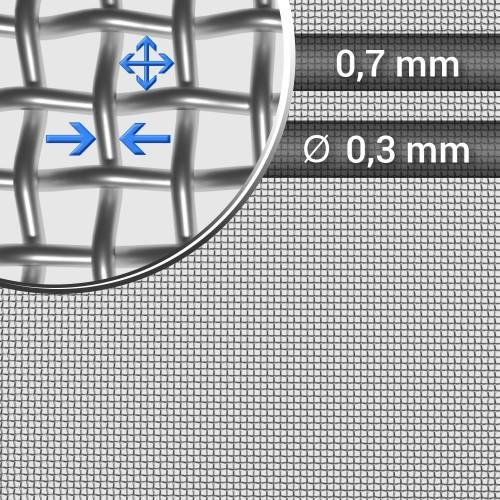 Siatka tkana ze stali nierdzewnej sito 25 oczko 0,7mm