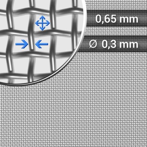 Siatka tkana ze stali nierdzewnej sito 27 oczko 0,65mm