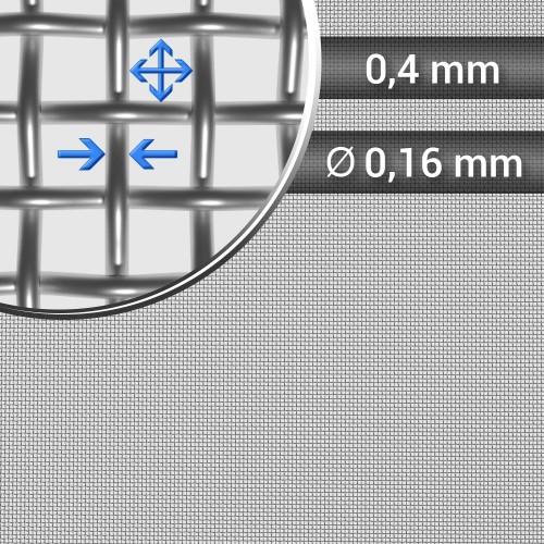 Siatka tkana ze stali nierdzewnej sito 45 oczko 0,4mm