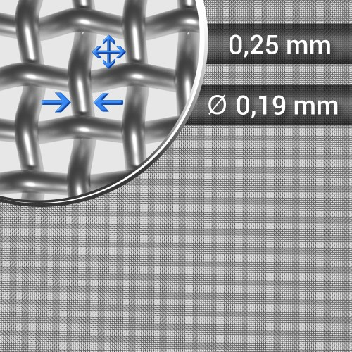 Siatka tkana ze stali nierdzewnej sito 60 oczko 0,25mm