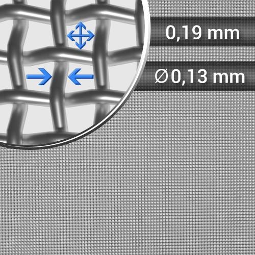 Siatka tkana ze stali nierdzewnej sito 80 oczko 0,19mm, średnica drutu 0,13mm, szerokość rolki 1000mm