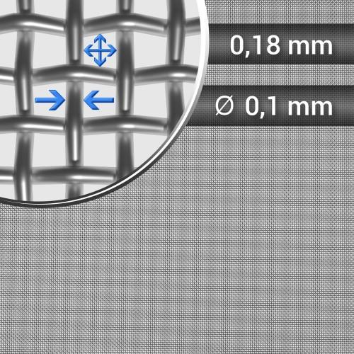 Siatka tkana ze stali nierdzewnej sito 91 oczko 0,18mm