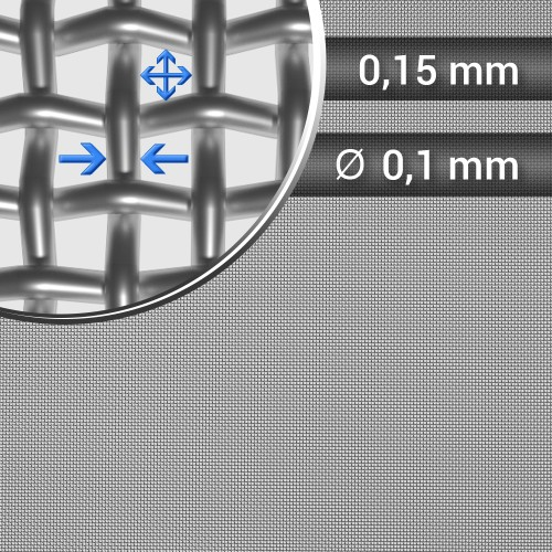 Siatka tkana ze stali nierdzewnej sito 100 oczko 0,15mm