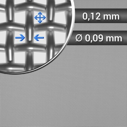Siatka tkana ze stali nierdzewnej sito 120 oczko 0,12mm