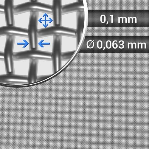 Siatka tkana ze stali nierdzewnej sito 160 oczko 0,1mm, średnica drutu 0,063, szerokość rolki 1000mm