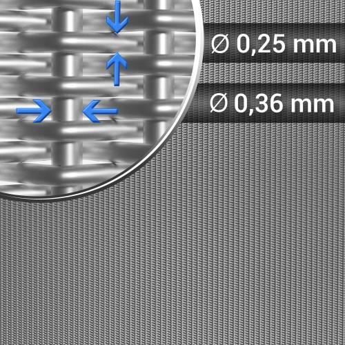 Siatka tkana splot holenderski sito 24x110 szerokość 1200 mm