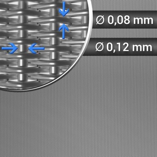 Siatka tkana splot holenderski sito 80x700 szerokość 1300 mm