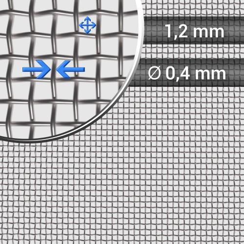 Siatka tkana ze stali nierdzewnej, sito 16, oczko 1,2 mm, rolka 1200 mm