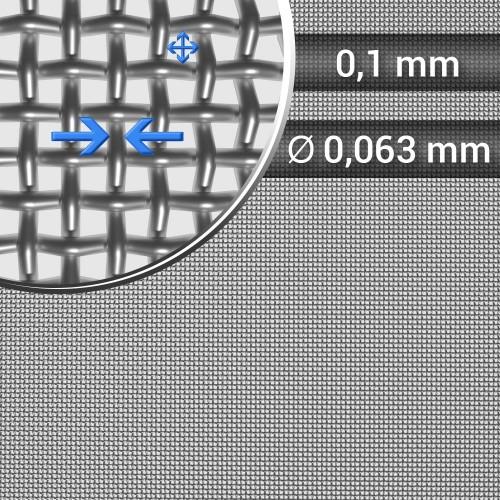 Siatka tkana ze stali nierdzewnej, sito 156, oczko 0,1 mm, rolka 1000 mm