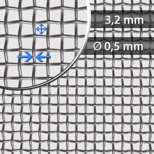Siatka tkana ze stali nierdzewnej sito 5 oczko 4mm
