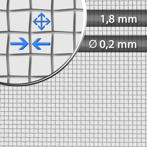 Siatka tkana ocynkowana sito 13 oczko 1,8mm drut 0,2mm szerokość rolki 1000 mm